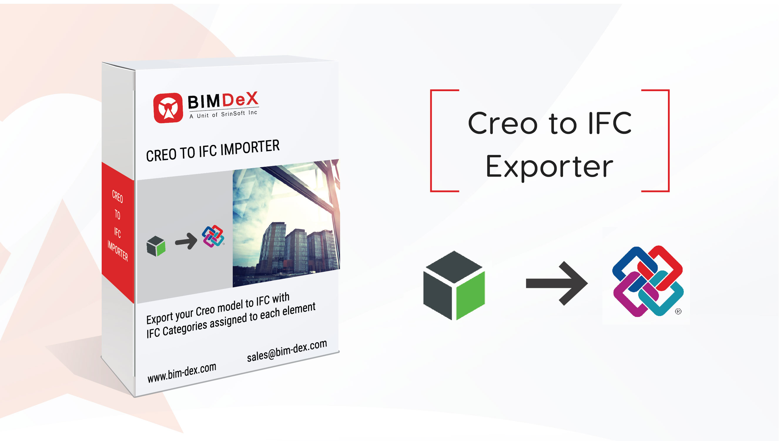 Creo to IFC Export, Converter, Importer, Free, plug-in, add-on, Tools