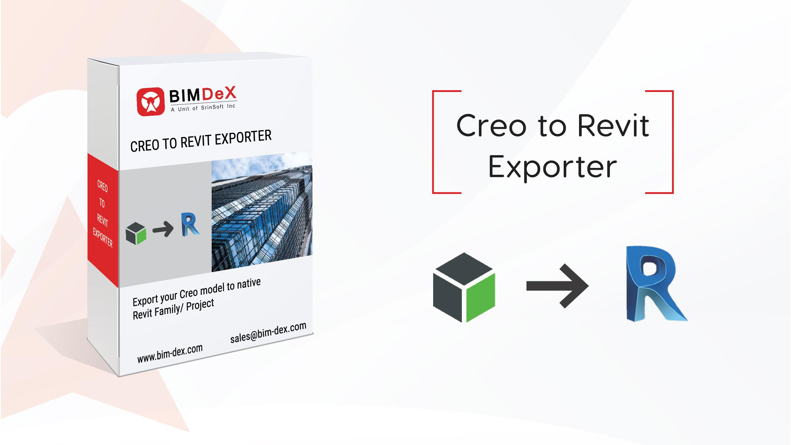 Creo to Revit Export, Converter, Importer, Free, plug-in